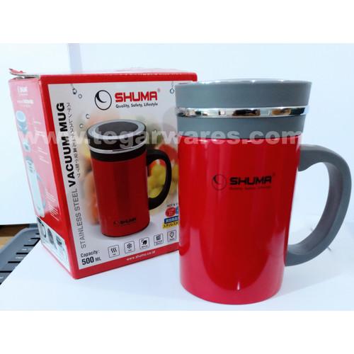 Foto Produk Mug Warna Merah Shuma Stainless Steel Vacuum Mug 500ml dari craftsxwares