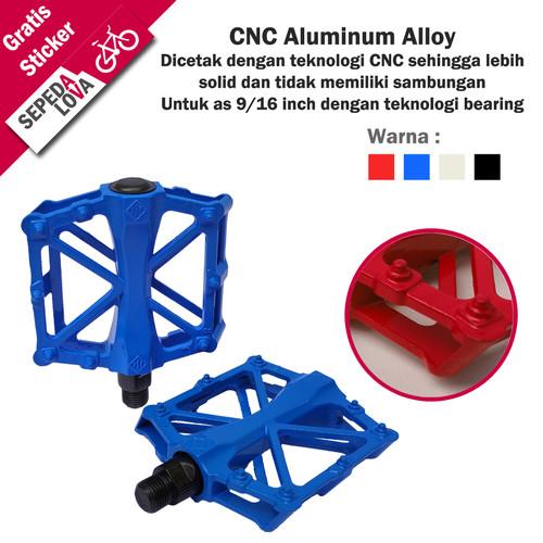 Foto Produk Pedal Sepeda CNC Allumunium Alloy Bearing As 9/16 Besar SL Sport - Biru dari SepedaLova
