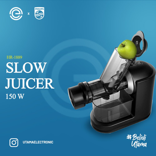 Foto Produk PHILIPS Slow Juicer Masticating - HR1889 dari UTAMA_ELECTRONIC