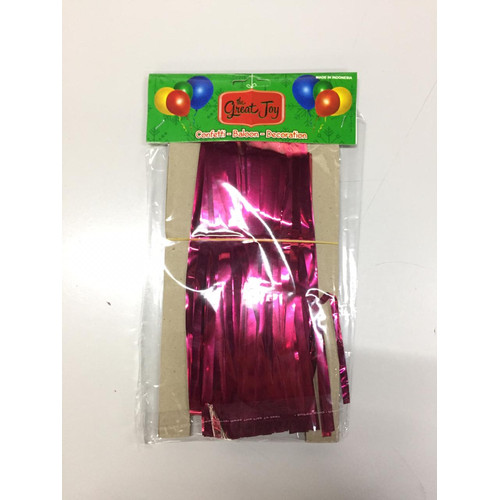 Foto Produk Tirai Foil / Foil Curtain / Tirai Balon / Rumbai Foil / Party Backdrop - Pink tua dari Pabrik Metalik