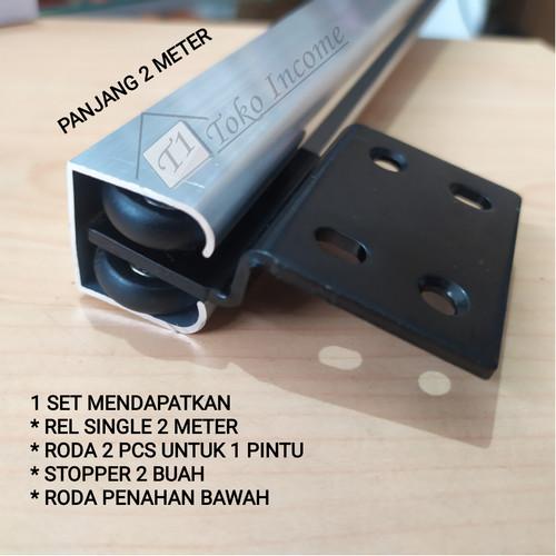 Foto Produk Rel dan Roda Pintu Sleding Gantung Geser / Sliding B 004 Single 2M dari Toko Income