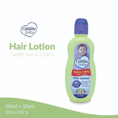 Foto Produk CUSSONS Baby Hair Lotion Candle Nut & Calery 50+50ml Extra 100% dari Mugan Home