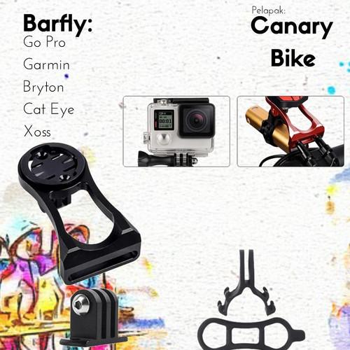 Foto Produk Bar fly , dudukan speedometer , dudukan Go-Pro Sepeda - Hitam dari Canary Bike