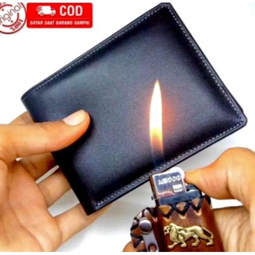 Foto Produk PROMO Dompet Kulit Pria 100% ORIGINAL Kulit Asli Garut - Hitam dari Sanjaya_Store.