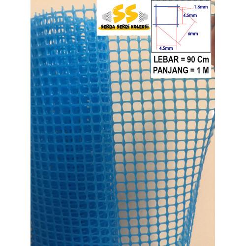 Foto Produk Kawat Jaring Plastik HDPE kotak 6 mm - Biru dari Serba Serbi Koleksi