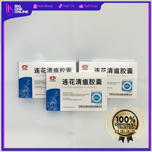 Foto Produk Lianhua Qingwen Jiaonang BPOM, Lian Hua Qing Wen, Obat Batuk Flu Demam dari BigOneOnline