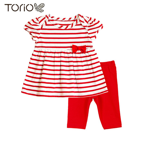 Foto Produk Torio Legging Set Stripe Red - Baju Setelan Anak Perempuan - 9-12 bulan dari Torio