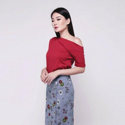 Foto Produk Flower Ruffle Skirt - Biru dari Amani Indonesia