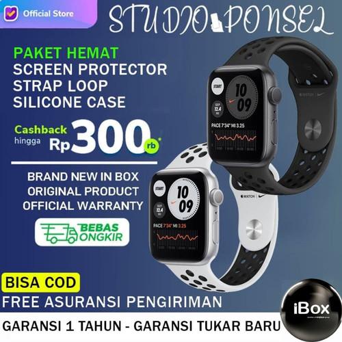 Foto Produk Apple Watch Nike+ Series 6 44mm 40mm Black Space Grey, Silver White SE - 40MM NON PAKET, Black SpaceGrey dari Studio Ponsel
