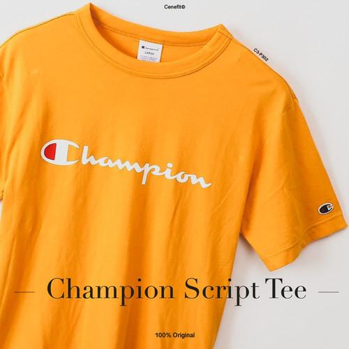 Foto Produk Champion Script tee Original BNIP - Mustard, M dari CeneOutfit
