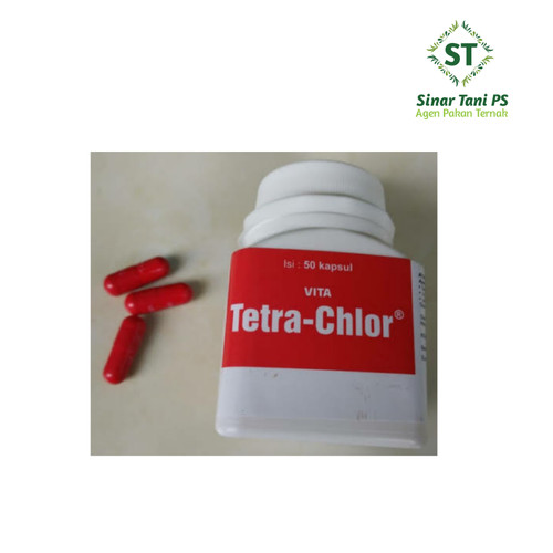 Foto Produk Vita Tetra Chlor Antibiotik dan Vitamin Ayam Ngorok Isi 50 Kapsul dari Sinar tani ps