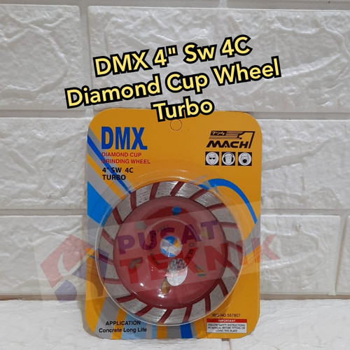 """Foto Produk DIAMOND CUP WHEEL DMX 4"""" / MATA GERINDA POLES BETON dari PUSAT TEKNIK TOKO"""