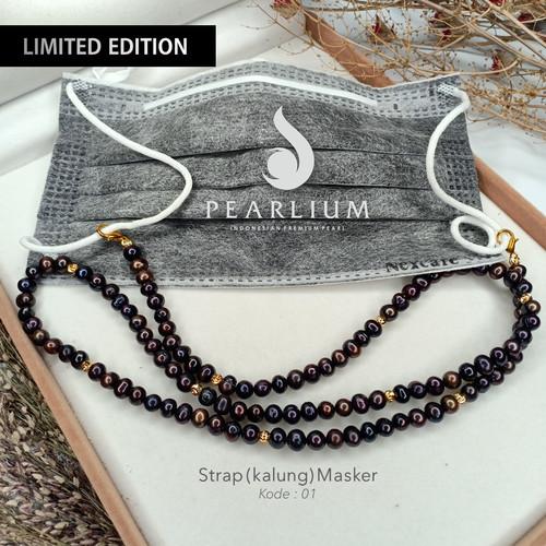 Foto Produk LIMITED EDITION ! Strap/Kalung Masker Mutiara Asli Kode 01 - Strap Saja dari Pearlium - Mutiara Lombok Premium