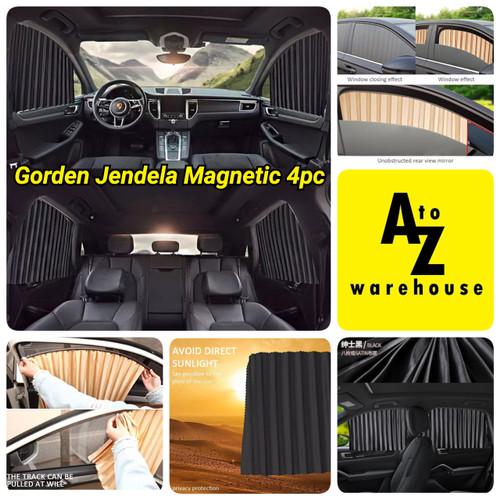 Foto Produk Car Magnet Window Sun Shades 4 Pc Tirai Gorden Jendela Kaca Mobil - Hitam dari AtoZ Warehouse
