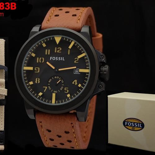 Foto Produk jam tangan pria Fossil paket free tali cadangan dari enak jaya