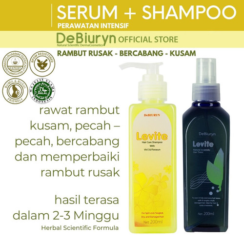 Foto Produk Levite Shampoo + Hair Tonic | Rambut Kering - Rusak - Bercabang dari Debiuryn Dermacosmetics