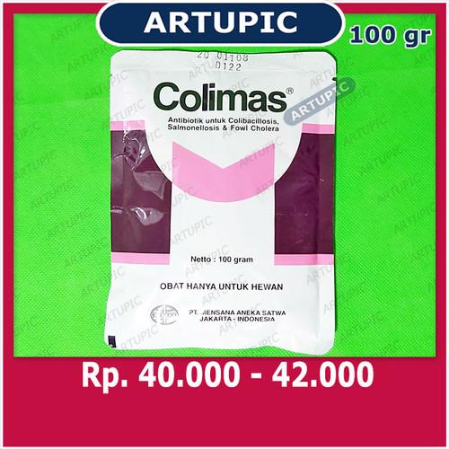 Foto Produk Colimas 100 gram Obat Colli Koli Salmonella Snot CRD Berak Kapur dari ArtupicPeralatanPeternak