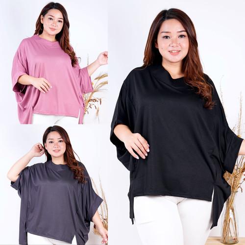 Foto Produk LD 204 ( FREE SIZE FIT TO 4XL ) Baju atasan batwing SANGAT BESAR helen - Hitam dari Coco Claire