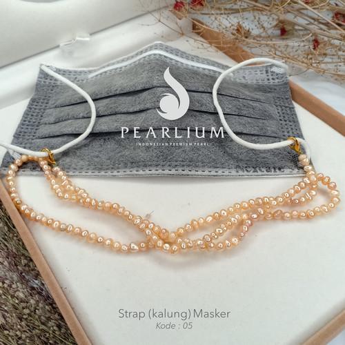 Foto Produk Strap/kalung masker mutiara asli Kode 05 - Strap Saja dari Pearlium - Mutiara Lombok Premium