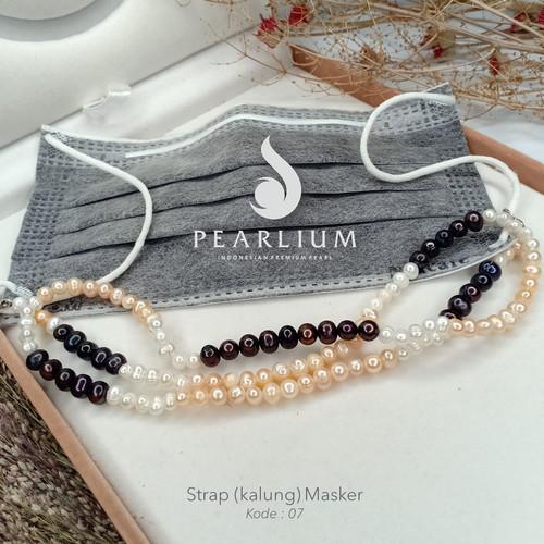 Foto Produk Strap/kalung Masker Mutiara Asli Kode 07 - Strap Saja dari Pearlium - Mutiara Lombok Premium