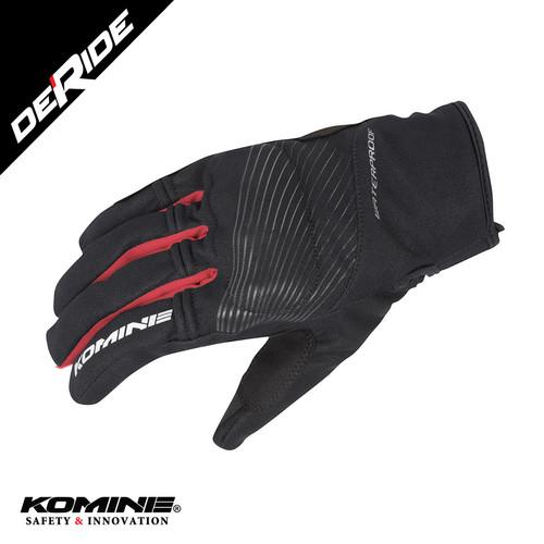 Foto Produk Sarung Tangan Waterproof Komine GK-245 Protect Rain Gloves - BLACK RED dari DeRide Official Store