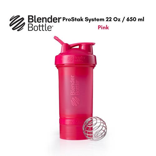 Foto Produk BlenderBottle ProStak System 650 ml with Pill & Protein Storage - Merah Muda dari HL Shop