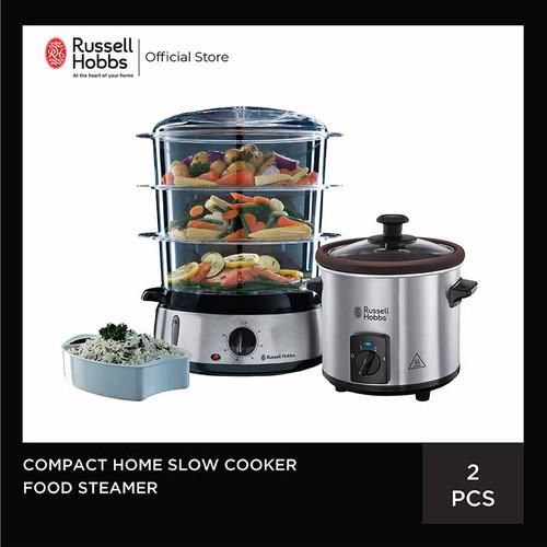 Foto Produk Bundling Russell Hobbs Food Steamer - Home Slow Cooker dari Russell Hobbs Indonesia