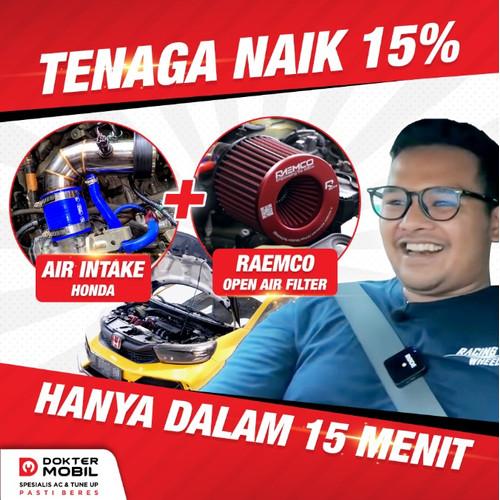 Foto Produk Intake + Open Air Filter Raemco Honda Brio - Aldhy Rais dari Dokter Mobil Indonesia