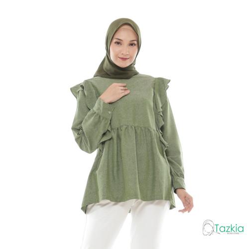 Foto Produk Atasan Wanita Muslim | Adila Blouse Hijau | S M L XL | Tazkia Hijab - M dari Tazkia Hijab Store