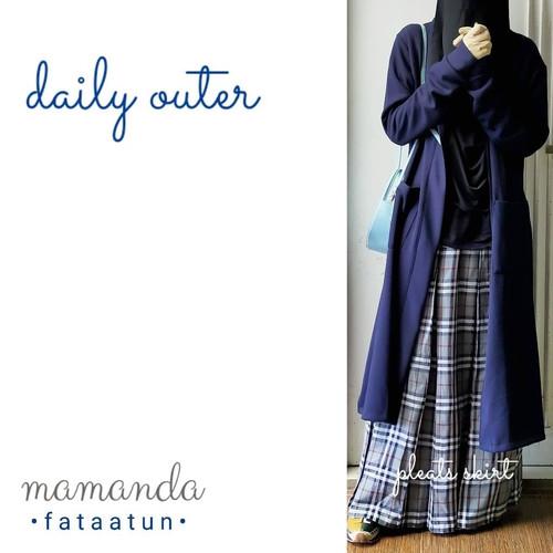 Foto Produk Outer Remaja/Dewasa Daily Outer by Mamanda - Navy dari kedai berkah