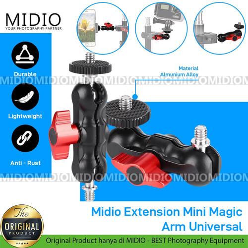Foto Produk Midio Extension Mini Magic Arm Universal untuk Kamera LED Smartphone dari Midio
