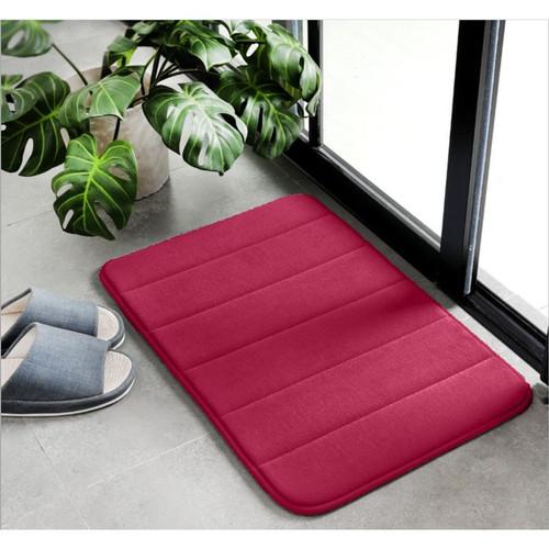 Foto Produk Memory Foam Mat SET Keset Kaki Rumah Dapur Pintu Kamar Anti Selip - Red dari Le Carre