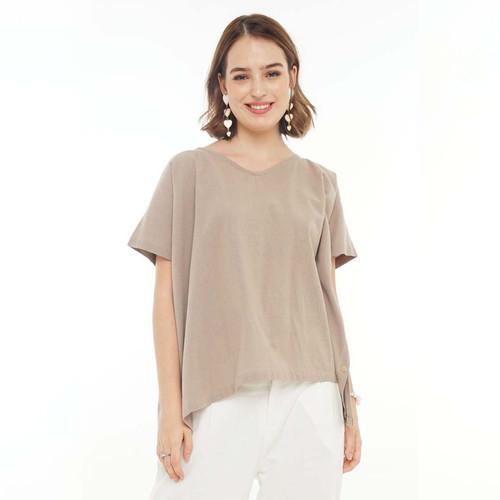 Foto Produk Beatrice Clothing Side Button Blouse - Atasan Wanita - Olive dari Beatrice Clothing