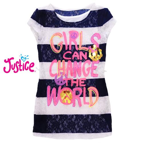 Foto Produk Atasan dua lapis anak perempuan Justice girls can change the world - 6 dari BALI COCO MART