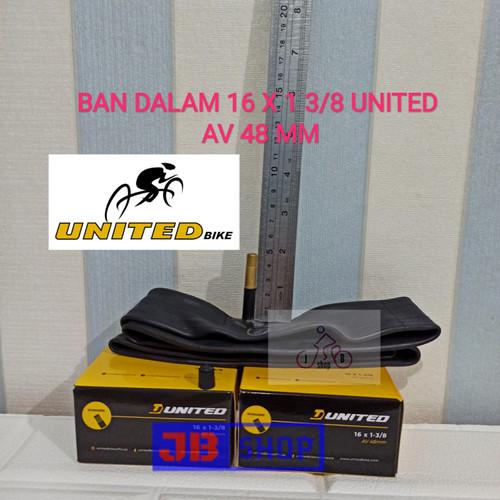 Foto Produk BAN DALAM SEPEDA 16 X 1 3/8 349 16X1 3/8 PENTIL PANJANG AV 48 MM dari JB Shop 1