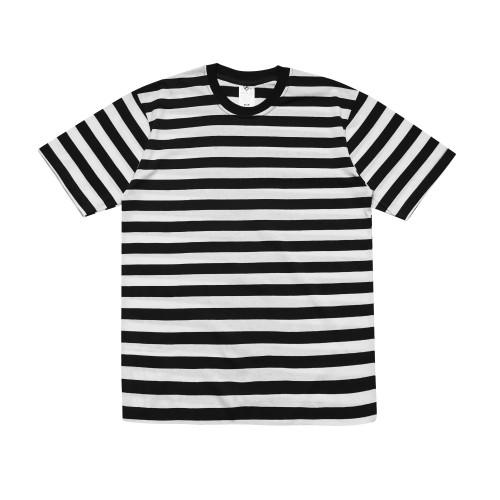 Foto Produk Sipolos Kaos Stripe Lengan Pendek Stripe Besar - Putih Hitam - S dari Sipolos Official Shop