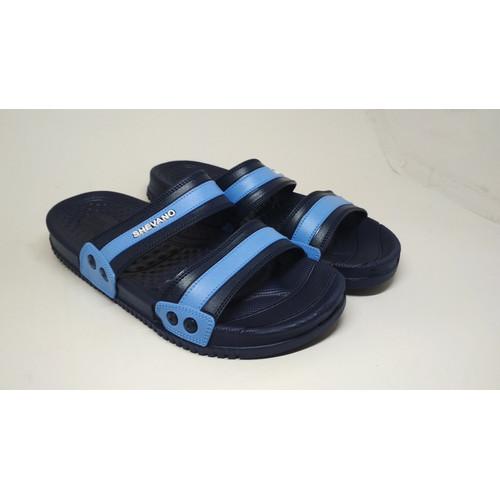 Foto Produk Sandal Sendal Slop Benassi SImple- Pria Cowok - SlipOn Slop - New - Blue, 39 dari Kimono Mou