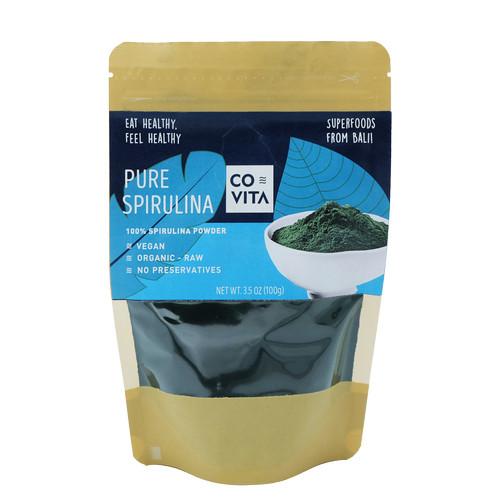 Foto Produk Pure Spirulina Powder 100% - Bubuk Superfood Spirulina 100gr dari Covita
