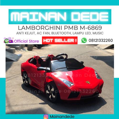 Foto Produk Mainan Anak Mobil Aki PMB M6869 Lamborghini Lambardo - Orange dari Mainan Anak Dede