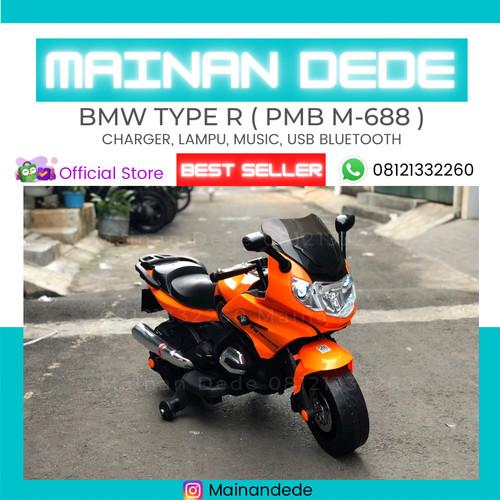 Foto Produk Mainan Motor Aki PMB Type R M 688 BMW - Merah dari Mainan Anak Dede