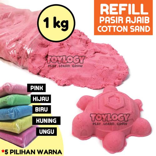 Foto Produk TERMURAH Mainan Edukasi Anak Refill Pasir Ajaib Cotton Sand 1 kg dari Toylogy