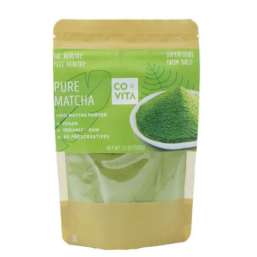 Foto Produk Pure Matcha Powder 100% - Bubuk Teh Hijau Matcha (Green Tea) 100gr dari Covita