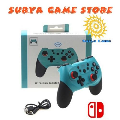 Foto Produk STICK WIRELESS CONTROLLER FOR NINTENDO SWITCH - Biru Muda dari Surya Game Store