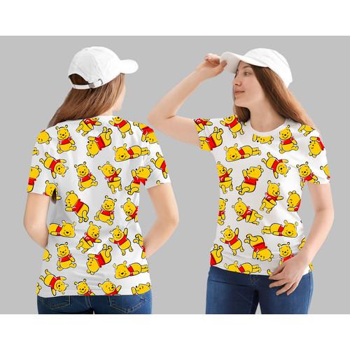Foto Produk T-shirt Pooh / Baju Kaos Distro Wanita Cotton 30s dari revenge eleven
