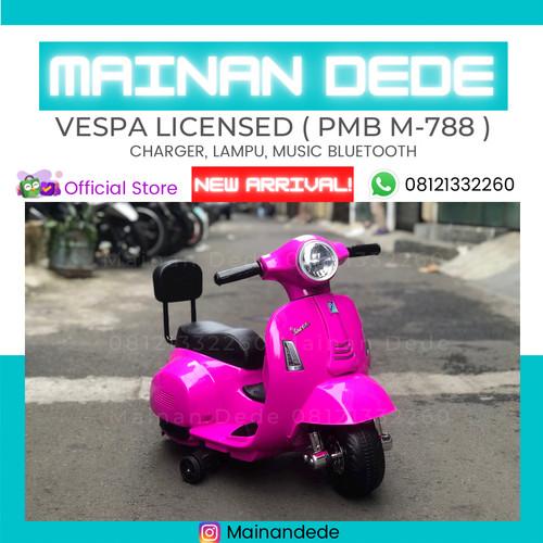 Foto Produk Mainan Motor Aki PMB M-788 VESPA OFFICIAL LICENSED - Merah dari Mainan Anak Dede