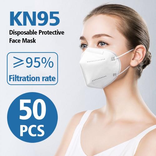 Foto Produk Masker KN95 PM2.5 Earloop kn 95 filter 95% setara n95 4 ply isi 50 Pcs dari lbagstore
