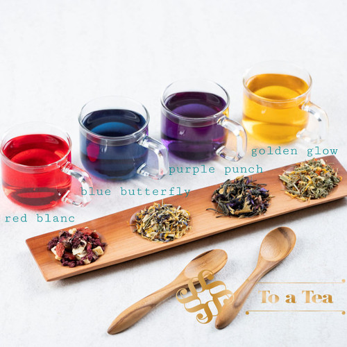 Foto Produk TO A TEA COLORFUL HEALTH REMEDY BLUE, PURPLE, YELLOW, RED TEA - 50gr - Golden Glow dari To A Tea