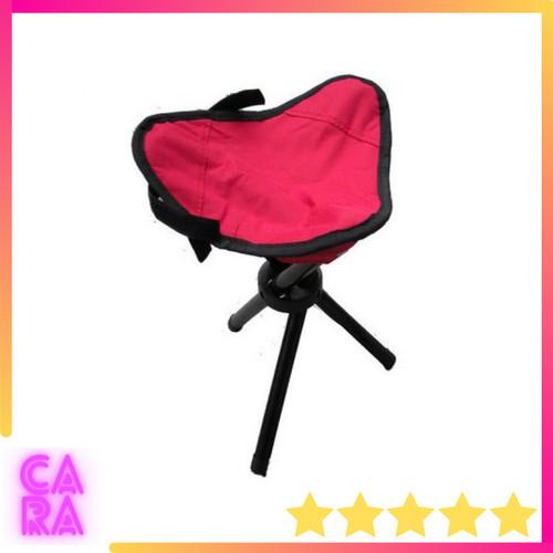Foto Produk Kursi Lipat Mancing Outdoor Camping Portable TaffSPORT A0003 - Merah dari CARA Store