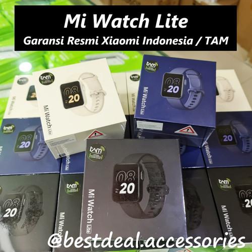 Foto Produk Xiaomi Mi Watch Lite Smartwatch - Garansi Resmi Xiaomi Indonesia / TAM - Hitam dari bestdeal official