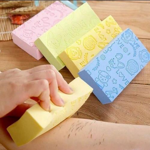 Foto Produk Sponge Mandi Pengangkat Daki aman buat kulit baby bayi dewasa Kuning dari Dekz